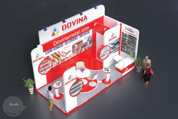 Gian hàng hội chợ triển lãm Dovina 2