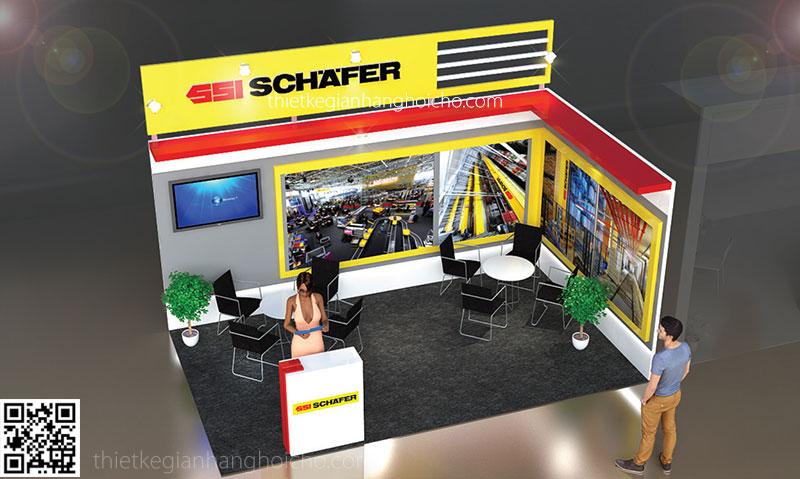 Thiết kế gian hàng Schafer 5x3m