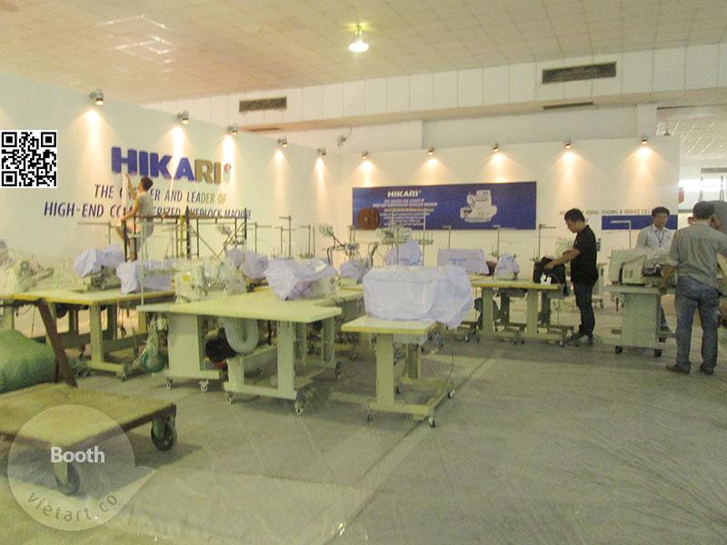 Thi Công Gian Hàng Hikari – Hội chợ triễn lãm công nghiệp dệt may 2015