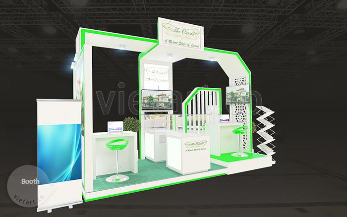 thiết kế booth triển lãm The Oasis 1