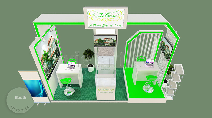 thiết kế booth triển lãm The Oasis 2