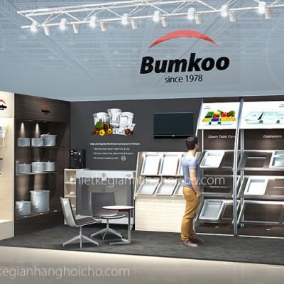 Hình ảnh thiết kế gian hàng BumKoo