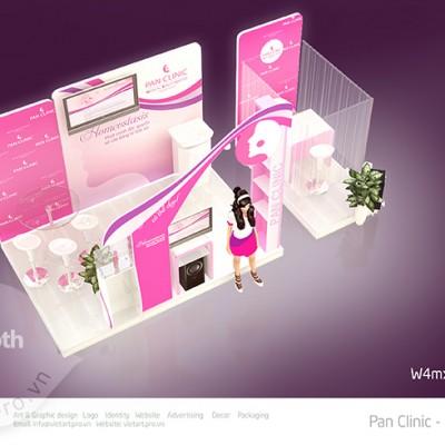 thiết kế gian hàng Panclinic