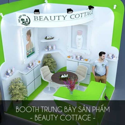 Thiết kế booth bán hàng Beauty Cottage