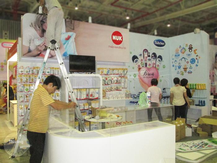 Thi công gian hàng hội chợ triển lãm Lê Phan 1