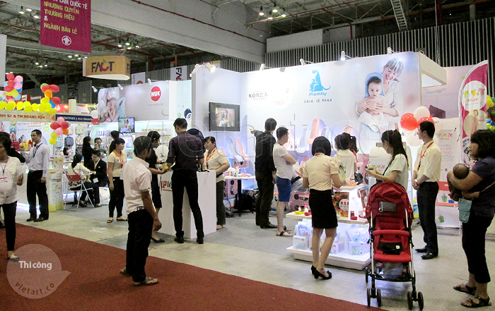 Thi công gian hàng hội chợ triển lãm Lê Phan 3