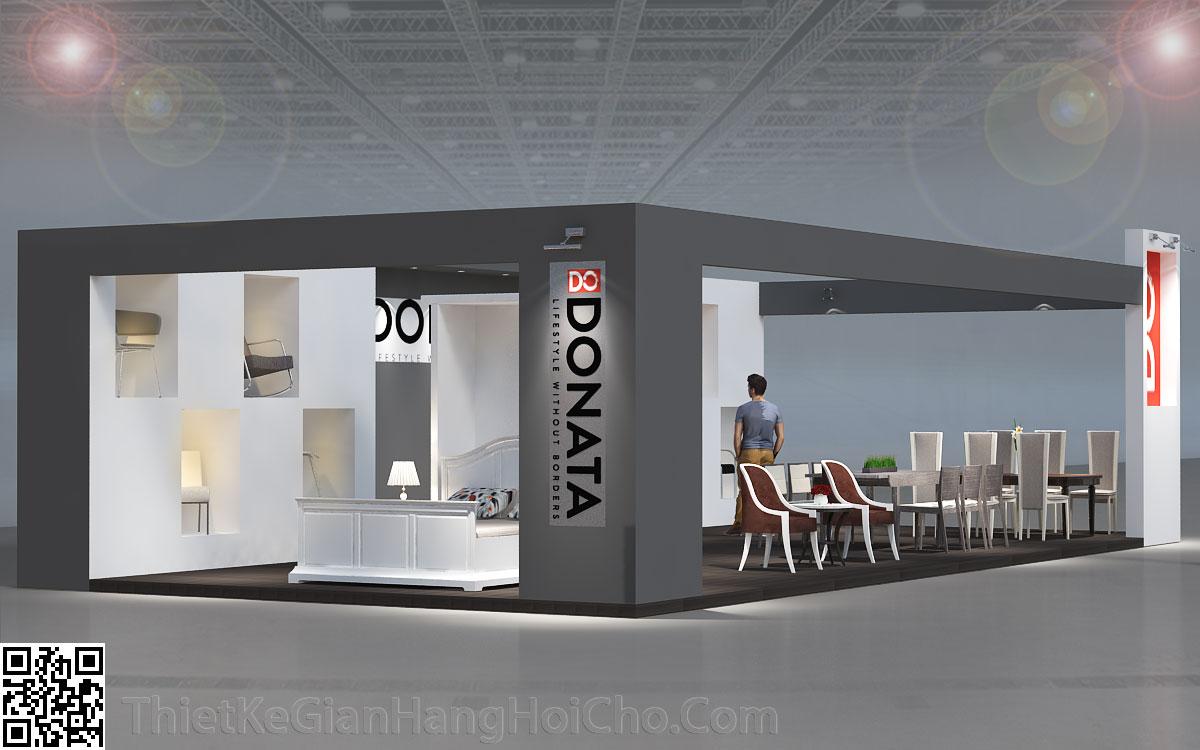 Thiết kế gian hàng Donata 18x6m