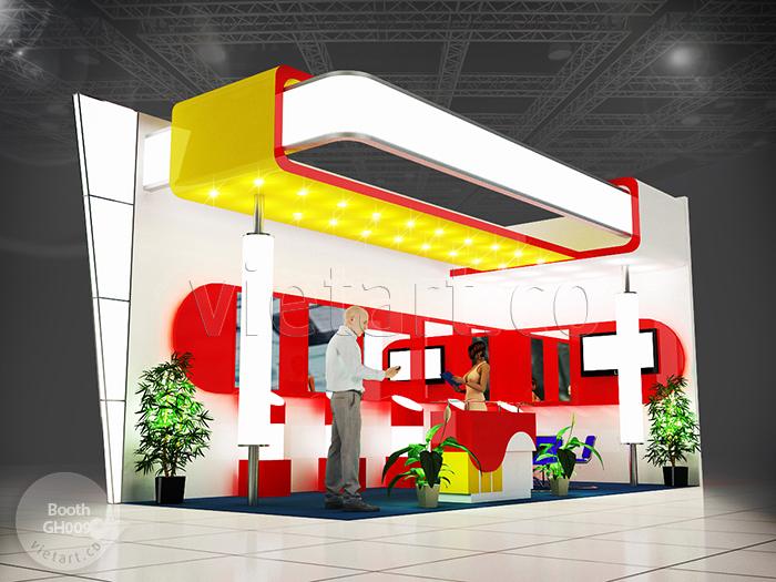 Mẫu gian hàng hội chợ 3D