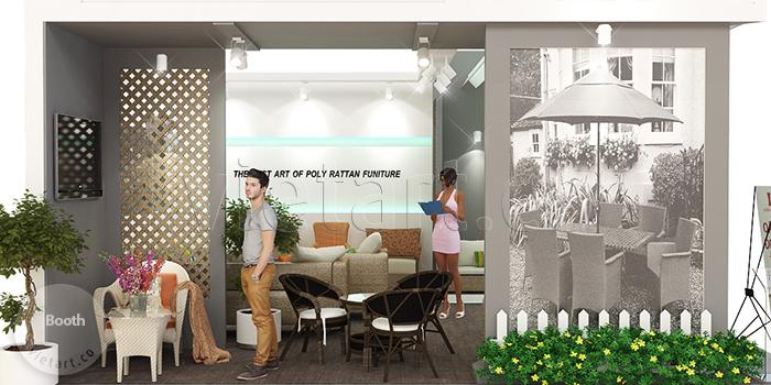 thiết kế gian hàng triển lãm đồ nội thất