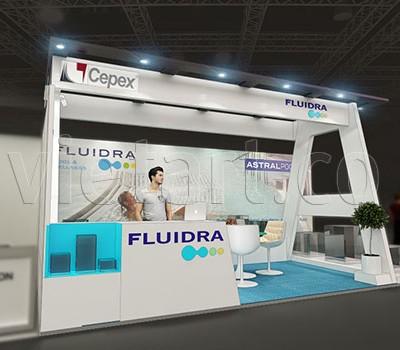 Thiết kế gian hàng Fluidra 2