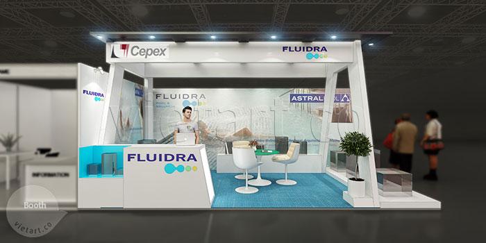 Thiết kế gian hàng Fluidra 1