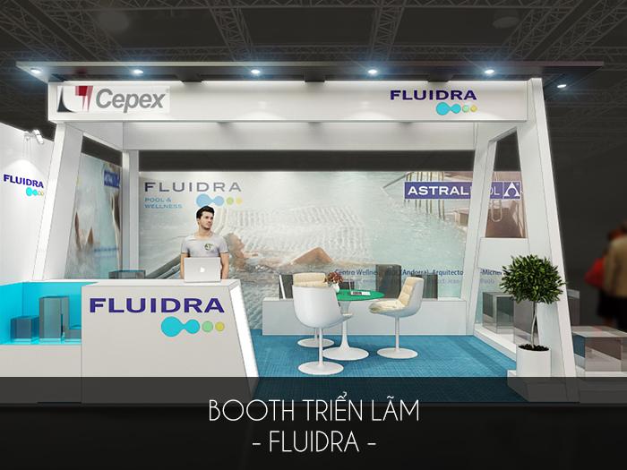 Thiết kế gian hàng Fluidra