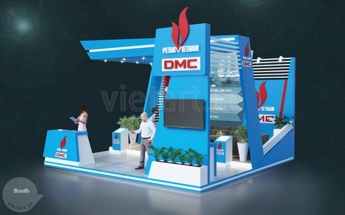 Thiết Kế Booth Triển Lãm Dầu Khí DMC