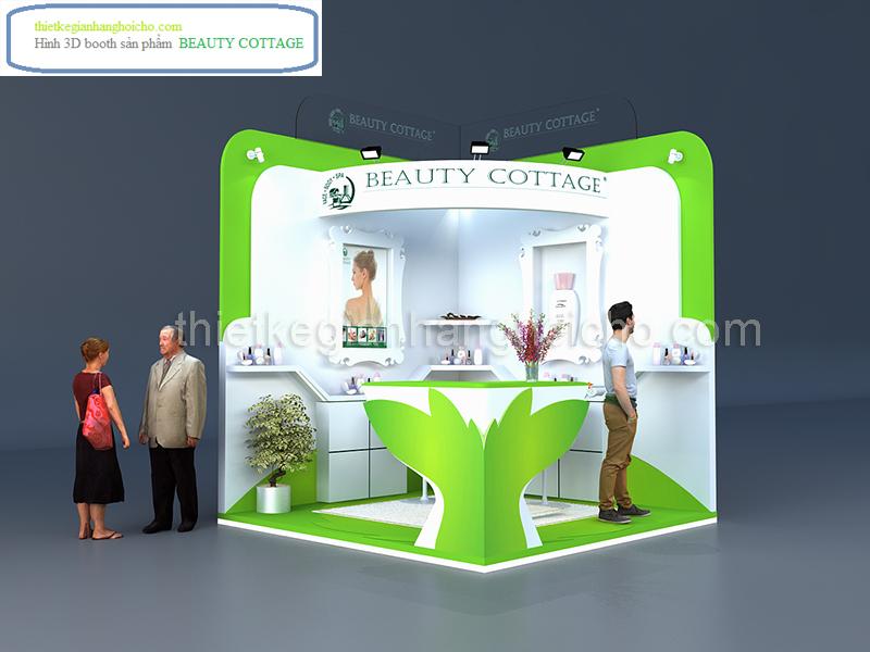 Booth – gian hàng trưng bày sản phẩm BEAUTY COTTAGE