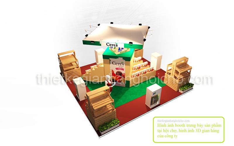 Thiết kế Booth gian hàng tại triển lãm hội chợ