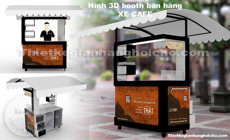 Booth gian hàng xe cafe lưu động