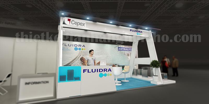 Mẫu 3D booth triển lãm FLUIDRA