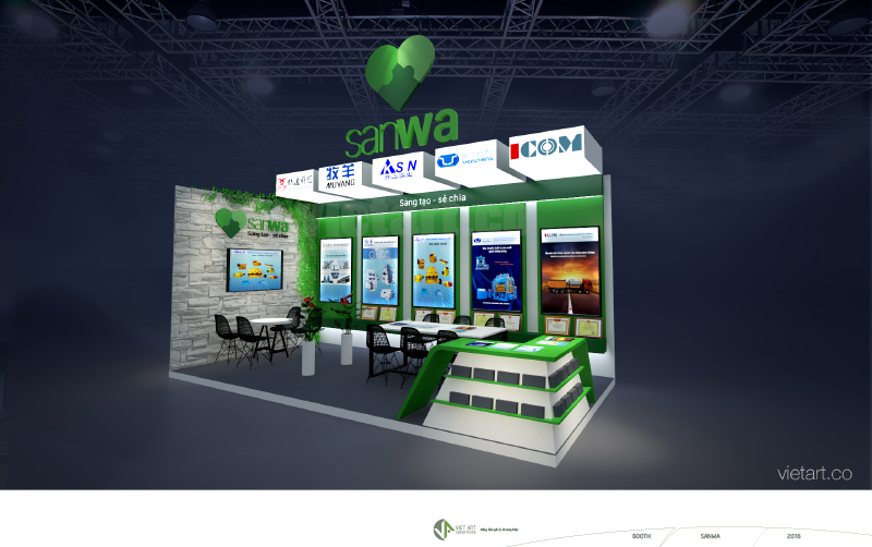 Design exhibition booth in VietNam
