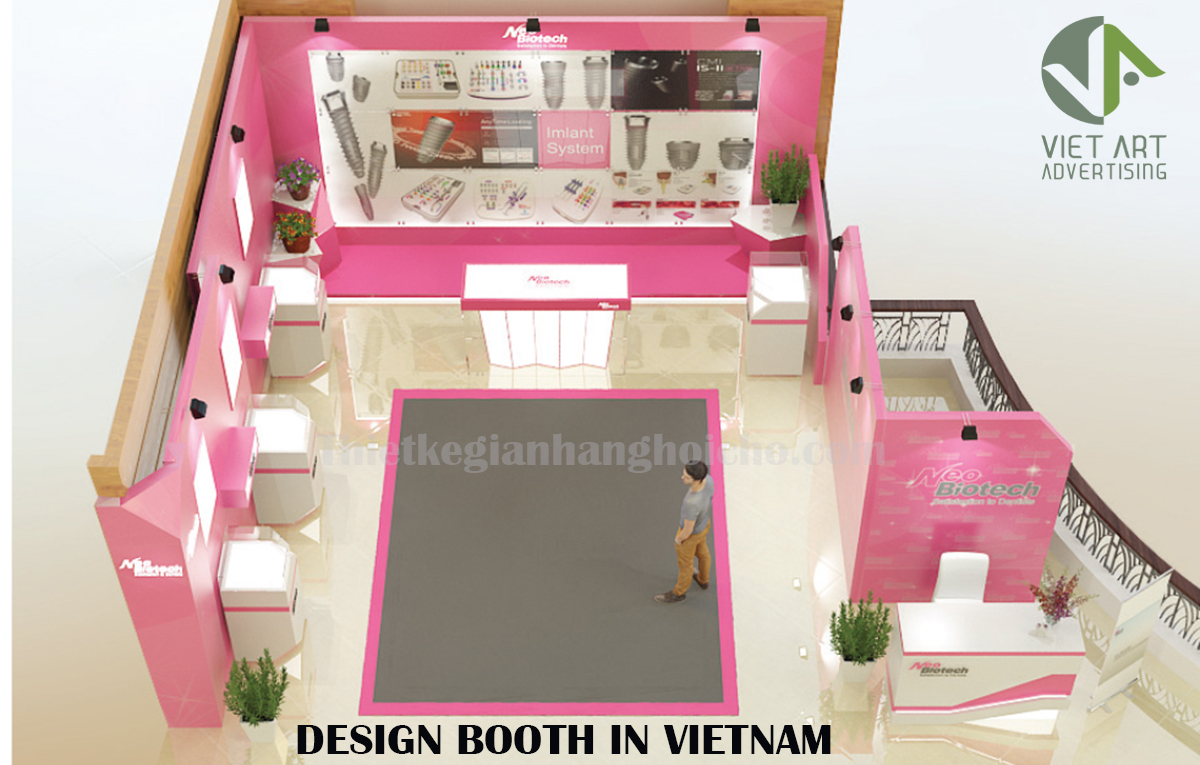 Design booth ADVERTISING in Vietnam – Viet Art ADVERTISING