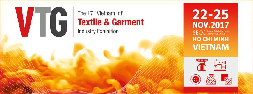 Triển lãm Quốc tế về Máy Móc Thiết Bị Nguyên Phụ Liệu Dệt May VTG 2017