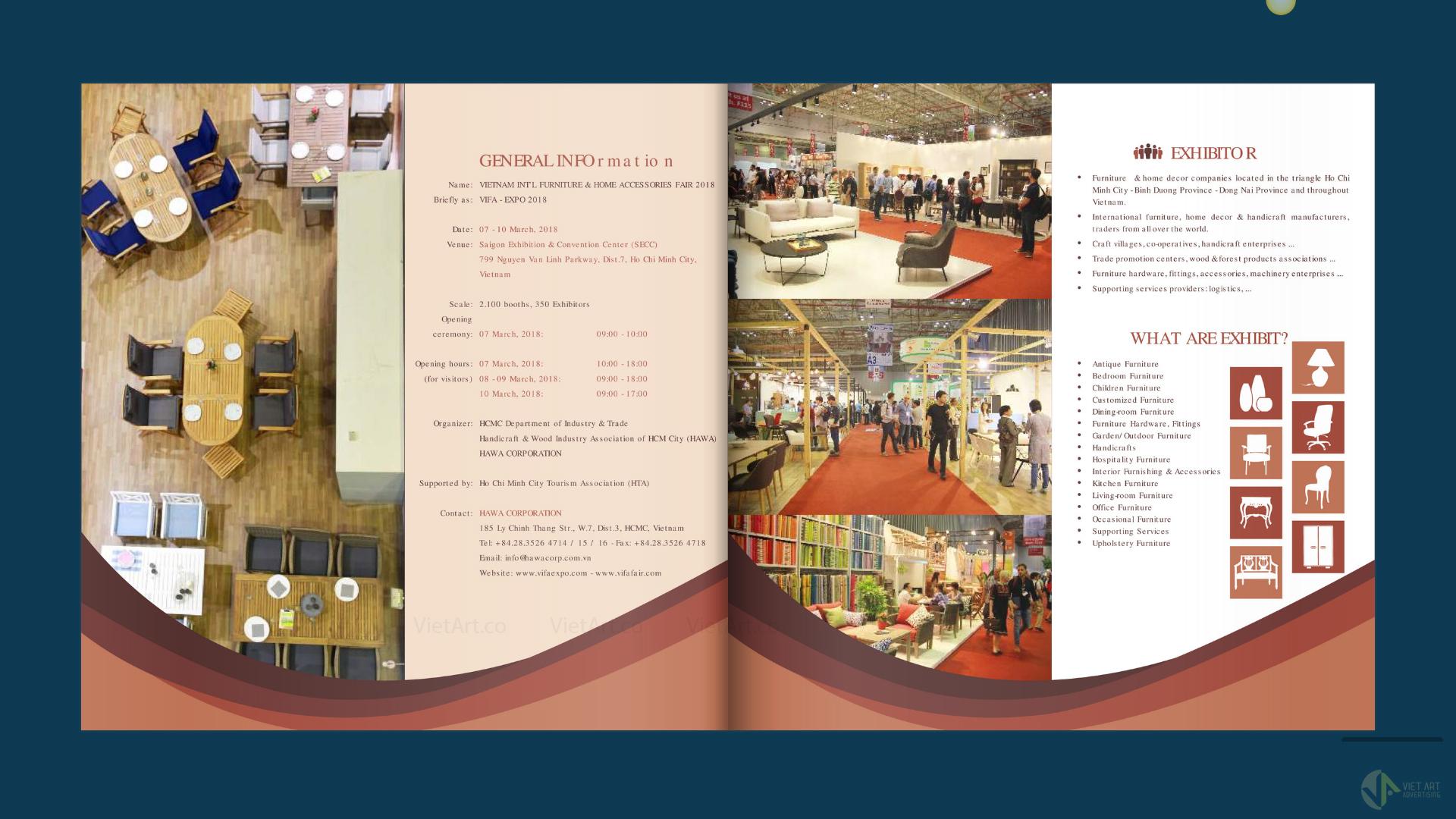 Brochure of  VIFA EXPO 2018 ( HAWA CORPORATION) Hội chợ quốc tế đồ gỗ Vifa 2018
