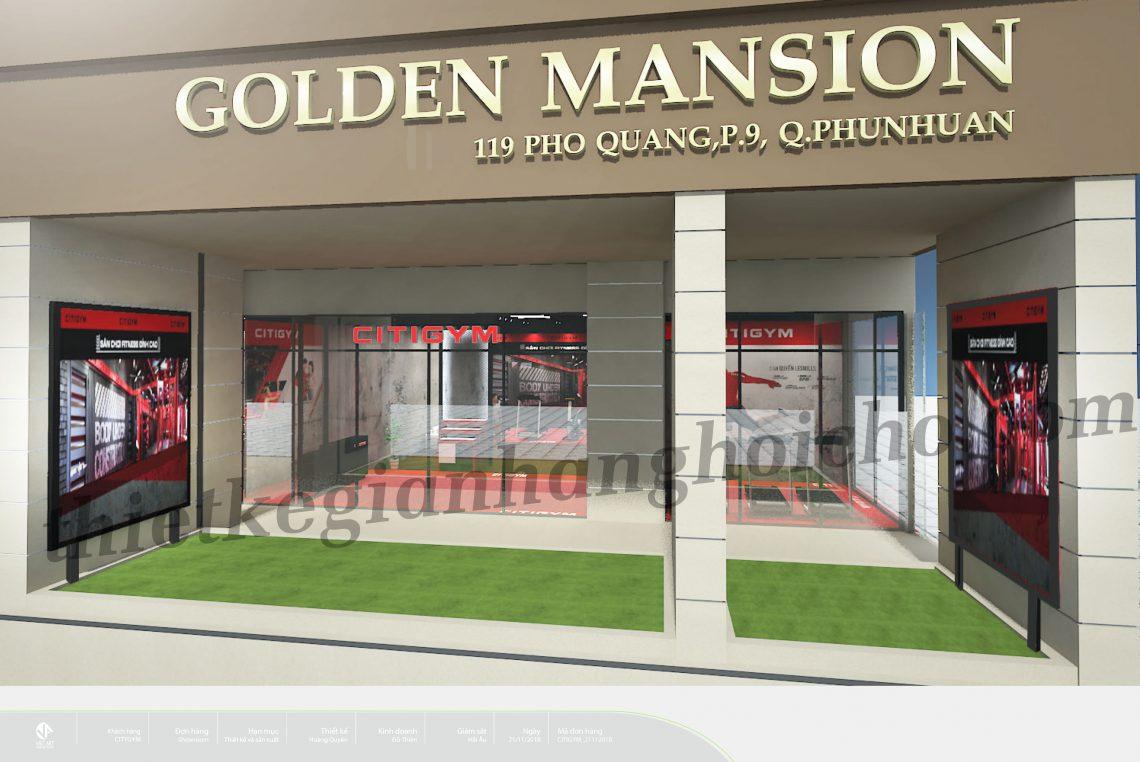 Booth Citigym Phổ Quang – Booth Presales tại Golden Mansion Phú Nhuận