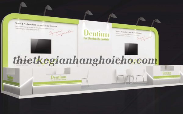 Dentium – Gian hàng triển lãm nha khoa tại Đại Học Y Dược Tp. HCM